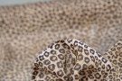 Seidenchiffon - Animalprint mit gold