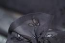 Rest Seidenchiffon - Lochstickerei, schwarz