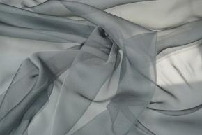 Seidenchiffon - anthrazit-grau