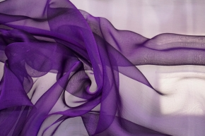 Seidenchiffon - lila
