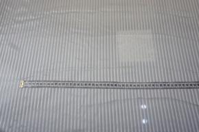 Seidenchiffon mit Satinstreifen - ecru