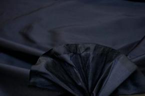 Seidendupion - schwarz/blau