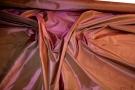 Taft - hellbraun und pink