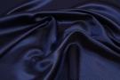 Rest Köperseide - nachtblau/braun