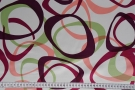 Seidenduchesse - weiß mit Kreisvariation