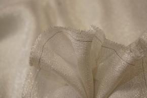 Seide mit Lurex - weiß/silber
