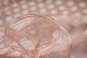 Seidenmix - rosa beflockt