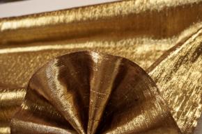 Seide mit Lurex - gold