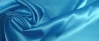 Rest Satin in Stretchqualität - himmelblau