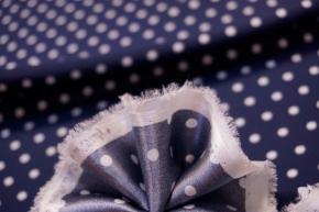 Seidenstretch - Polka dots, blau