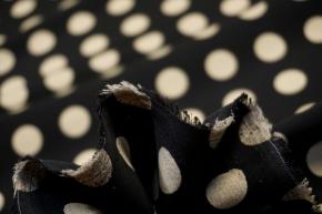 Seidenstretch - große polka dots