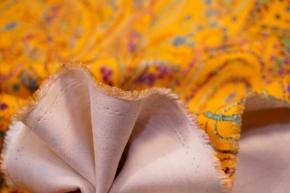 schwerer Seidenstretch - Paisley, gelb
