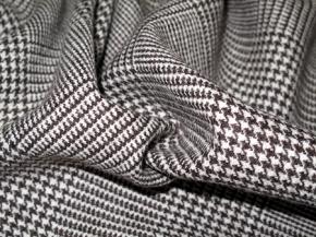 Rest Schurwolle braun und grau