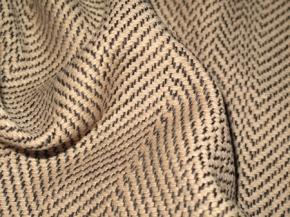 Schurwolle - beige und schwarz