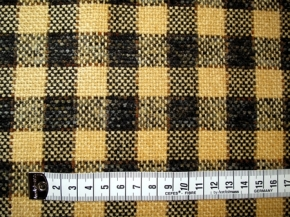 Chenille - gelb und schwarz