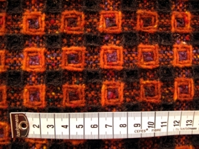 Schurwollmischung, orange-braun