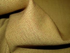 Schurwolle - beige und rot