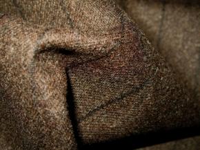 Schurwollmischung - schwarz/braun