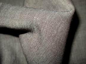 Schurwollmischung - braun und weiß