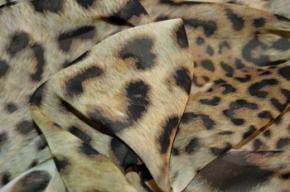 Coupon Polyester-Chiffon - animal print