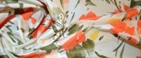 Floralmotiv - Polyester