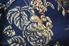 Rest Brokat - nachtblau mit silber