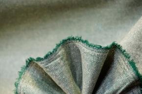 Schurwollmischung - grünes Fischgrät