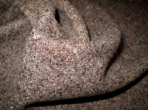 Schurwollmischung - taupe meliert