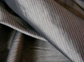 Baumwollmix - Nadelstreifen grau
