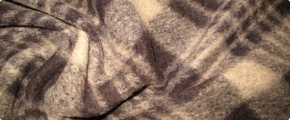 Rest Schurwollmischung - braun