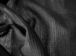 Schurwollmischung mit Seide - schwarz
