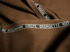 Crepe Georgette - schokofarben