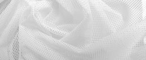 Netzstoff - weiß