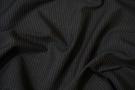 Rest, Schurwolle schwarz mit feinen Nadelstreifen
