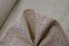 Schurwolle in sand mit Überkaro