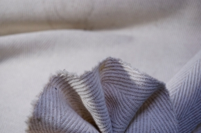 Schurwolle - beige/weißes Fischgrat