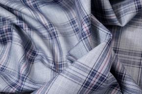 Schurwolle - Tartan, blau