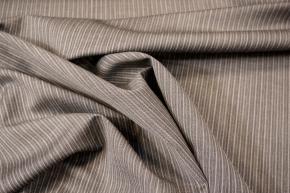 Schurwolle - grau gestreift