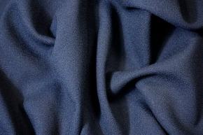Schurwollcrepe - dunkelblau