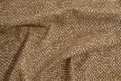 elastische Schurwolle - braune Punkte