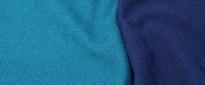 Schurwolljersey - petrol/blau