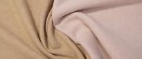 Schurwolljersey - rosa/beige