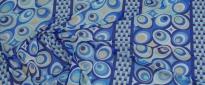 Schurwolljersey - blaues Muster