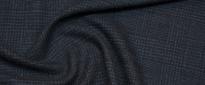Schurwolle mit Seide - schwarz/grau