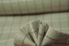 Schurwolle mit Seide - Fischgrat