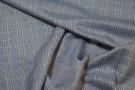 Schurwolle mit Seide - blau, weiß, gelb