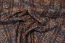 Schurwollmischung - braun mit weiß