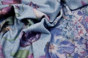 Mantelware - Blumen auf hellblau
