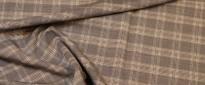 Schurwollmischung - braunes Karo