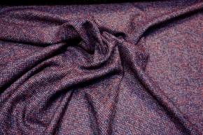 Schurwolle mit Alpaka - rot/blau